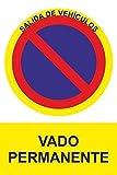 Normaluz RD45648 - Señal Adhesiva Vado Permanente...