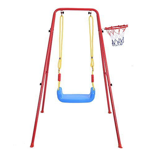 CreazyBee Children's Toys Swing Basketball Combination Swing Set Multipurpose Portable Swings Basketball Training Indoor and Outdoor Play,for Large Rooms Or Courtyards (Within 7 Days Arrive) (As show)