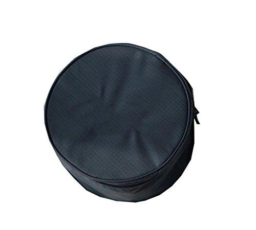 Sac De Stockage De Soutien-gorge Circulaire à Main Poche De Sac De Lavage Cylindrique Enveloppé Cosmétique Portable,Black