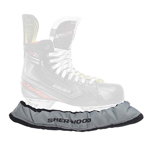 SHER-WOOD - Senior Pro Eishockey elastische Kufenstrümpfe für Eishockey- & Schlittschuhe, 2 Stück, silber