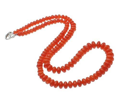 TreasureBay Hermoso collar de cuentas de coral natural para mujeres y niñas.