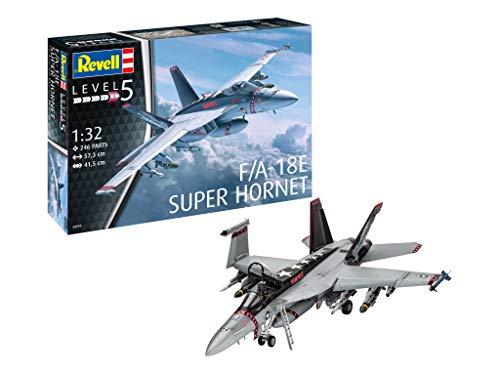 Revell Maqueta de avión 1: 32–F/A-18E Super Hornet (Escala 1: 32, Niveles 5, réplica exacta con Muchos Detalles, 04994
