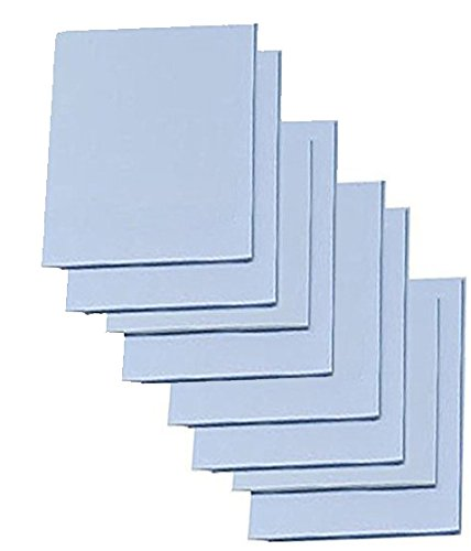 "Carving Sheets Studio Pack of 8 Easy to Cut Blue Soft & Firm Artist Printmaking Block Printing Set for Sharp, Clear Prints Easy-to-Cut Linoleum (5"" x 7"")"