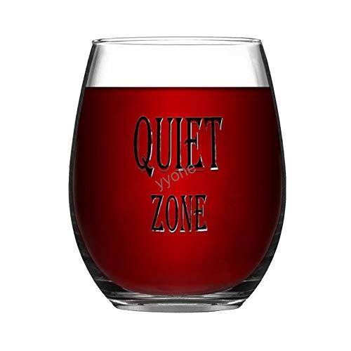 YY-one Copa de vino grabada personalizada sin tallo, 325 ml, zona tranquila, copas de vino, bodas, fiestas, cumpleaños, regalos para papá, hombres, amigos, padres