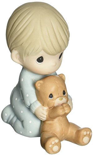 Precious Moments 152002 I Pray The Lord My Soul to Keep, Bisque Porcelain Figurine, Boy