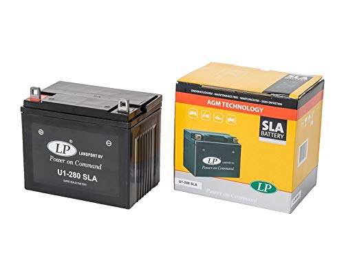 LANDPORT U1-280 SLA Batterie 12V 24aH für Rasenmäher, Rasentraktor, Aufsitzmäher [inkl. 7.50 Batteriepfand]
