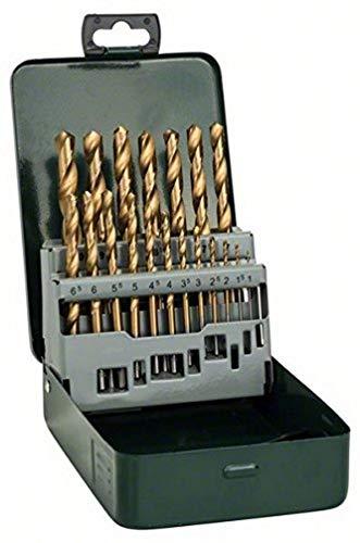 Bosch 2607019437 - Set con 19 brocas para metal, recubrimien