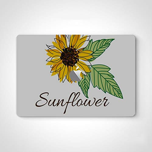 Mac Laptop Decal Stickers Bright Blurred Sunflower Leaves Inscription Sunflower Laptop Skin Stickers for Women for MacBook Air 13' Pro 13'/15'/16' 2008-2020 Version Laptop Keyboard Decal Sticker