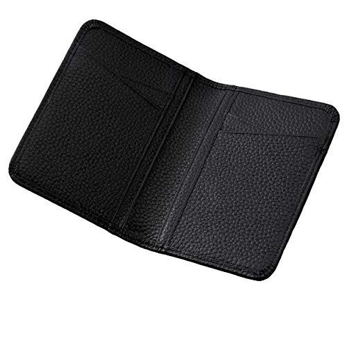 カードパッケージ メンズクレジットカードケース 名刺入れ カードホルダー 財布 メンズ ギフト用の箱 本革 メンズ 財布 - 小さい 軽い ミニマリスト 極薄 二つ折り財布 メンズマネークリップ メンズクレジットカードケース カードケース カード入れ ブラ