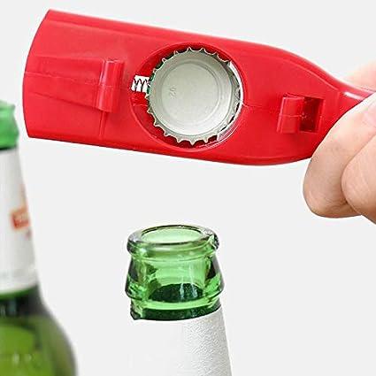 Sacacorchos Lanzador Creativo De Tapa Voladora Botella Abridor De Cerveza Herramienta De Barra Apertura De Bebida Tapas En Forma De Pistola Tirador Rojo Gris Portátil