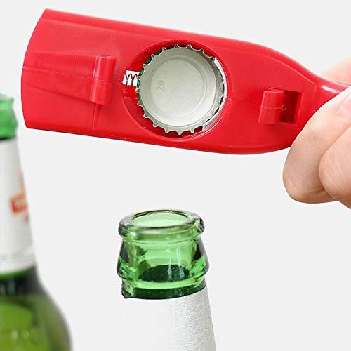 Apribottiglie Creativo Flying Cap Launcher Bottle Beer Opener Bar Tool Drink Apertura Coperchi A Forma Di Pistola Shooter Rosso Grigio Portatile
