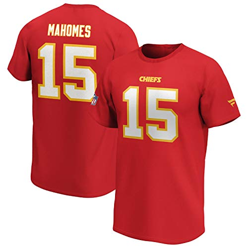 Fanatics NFL T-Shirt Kansas City Chiefs Patrick Mahomes rot Iconic Name & Number Trikot Jersey (S)