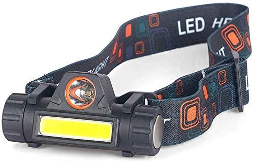 Linterna Frontal,Recargable,Linterna LED,luz estroboscópica de la Linterna del Casco súper Brillante Lumen...
