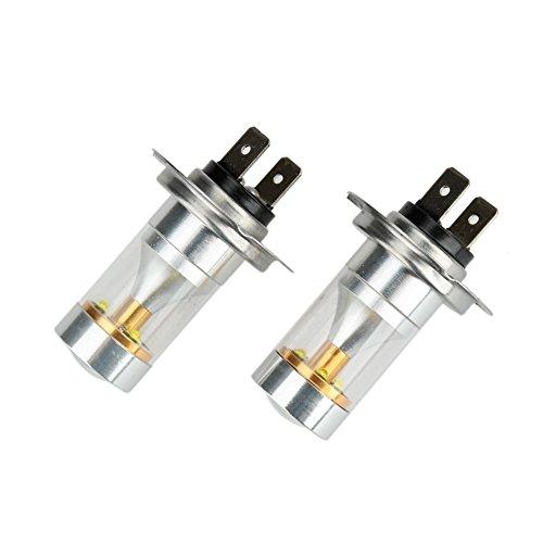 KaTur Lot de 2 ampoules LED 6-SMD 950 lm H7 pour plaque d'immatriculation de voiture - Blanc