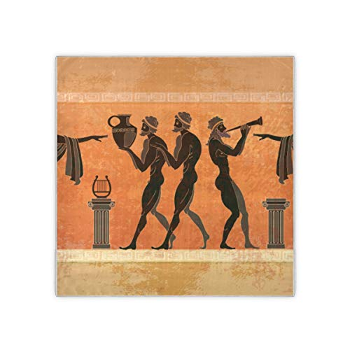 Schwarze Keramik Altgriechische Mythologie Frauenschals Damenmode Muster Haarschal Für Frauen Gefühl Decke Schal Schal 35x35 Zoll