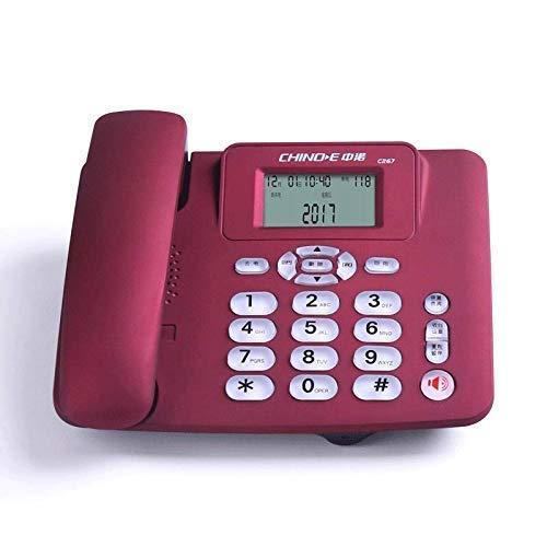 Botón grande Teléfono con cable Teléfono residencial Teléfono fijo Habitación de hotel Teléfono con cable Llamada Manos libres Desvío de llamadas Acceso de puerto dual Ajuste del reloj de alarma Pant