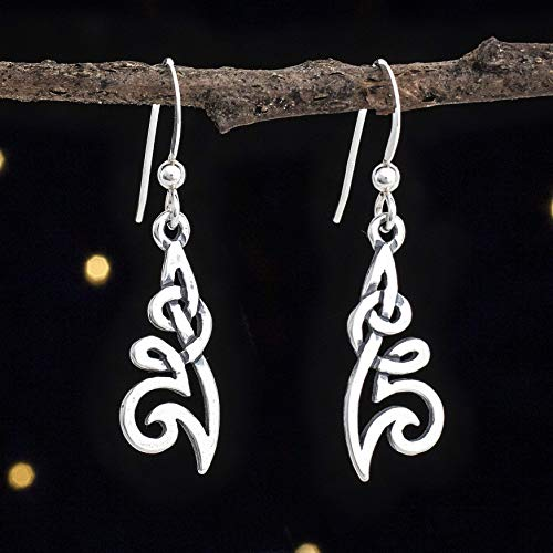 Sterling Silver Celtic Flower Knot Earrings - Small, Double Sided - Handmade, Solid .925