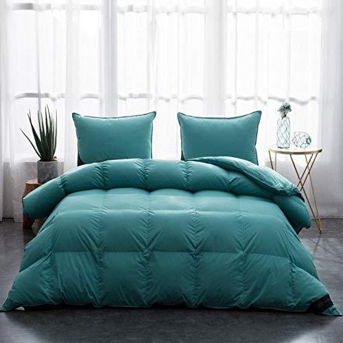 Hahaemall 2 tog duvet Down duvet King Size Down Duvet-Cotton Anti Dust Mite&Down Proof Fabric-Anti Allergen Winter Quilt-220x240cm-1800g_F
