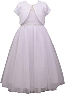 Bonnie Jean Girl's First Communion Dress with Cardigan