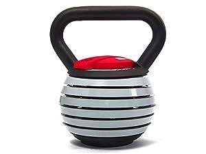 Pesa con asa ajustable 7 pesas en 1 Rango de 4,5 a 18 kg 6 platos de peso metálicos de 2,27 kg Medidas aproximadas: 20 x 23 x 27 cm (alto) Tipo de deporte: Fitness y ejercicio