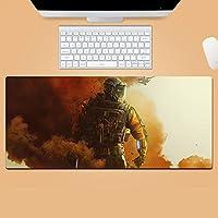 レインボーシックス 彩虹六号围攻 Rainbow Six 泳衣 鼠标垫 大型 超大型 桌垫 游戏鼠标垫 动漫 键盘垫 防水 防滑 耐久性 时尚 鼠标垫 办公室/家庭通用-E_900X400X3MM
