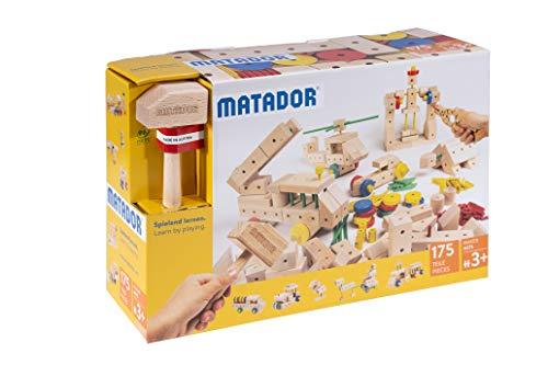 Matador 21175 M175 Baukasten, holzfarben, bunt