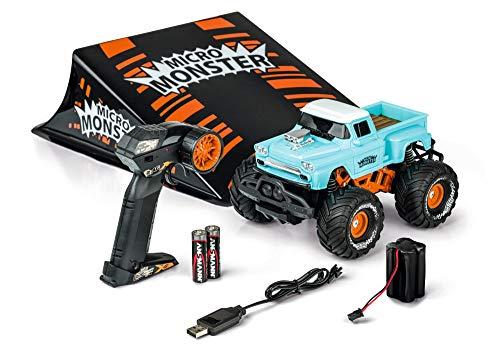 Carson 1:22 Micro Monster mit Rampe 2.4G 100% RTR, Ferngesteuertes Auto, RC Fahrzeug, inkl. Batterien und Fernsteuerung, 500404156