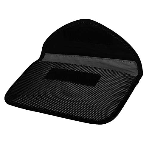 Bolsa bloqueadora de señal GPS Mini bolsa anti-seguimiento de tamaño portátil para anti-fuga de información electrónica para anti-posicionamiento para(black)