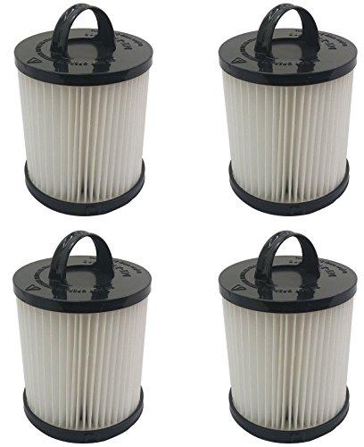 Pokin (4) Filtro para aspiradora Eureka DCF21, 67831, 68921, 68931A HEPA, taza de polvo lavable