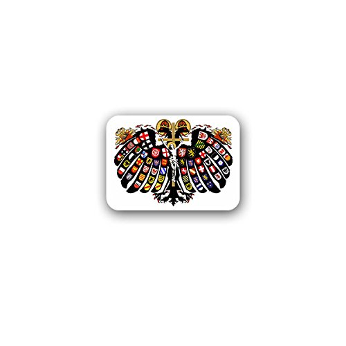 Copytec Quaternionenadler David de Negker dubbele koppen adelaar heilige Romeinse rijk standen wapen badge 10x7cm - sticker #A3175