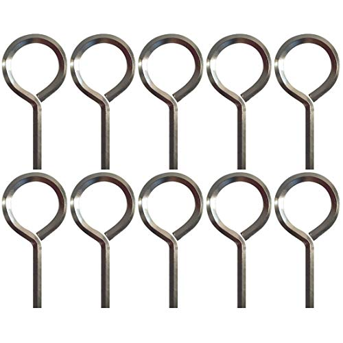 """5/32"""" Standard Hex Dogging Key with Full Loop, Allen Wrench Door Key for Push Bar Panic Exit Devices, Solid Metal - 10 Packs"""