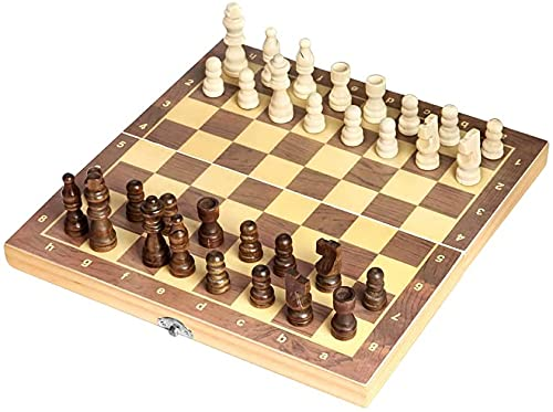 Wooden Chess Set for Adults, Portable Chess Board Folding Magnetic...