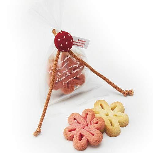 ばらまき用 プチギフト お菓子 退職 かわいい『いちご畑 花のクッキー』ありがとう お礼 お返し会社 挨拶 結婚式 歓迎会 大量 業務用 個包装 (60個セット)…