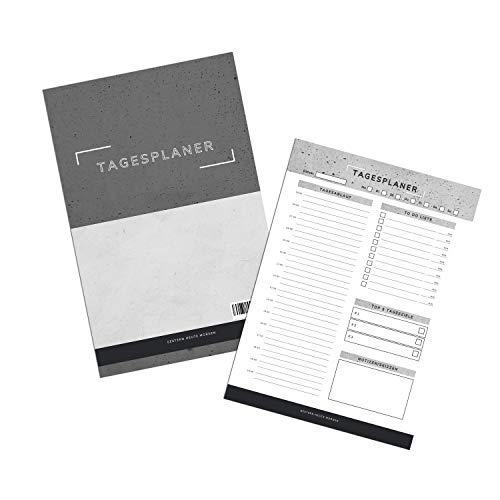 gestern.heute.morgen Tagesplaner A5  Premium Daily Planer mit To - Do Listen, Tagesablauf, Fokus Plan und Tageszielen - A5 50 Blatt