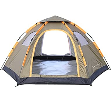 Wnnideo Automatic Instant Pop Up Tent Outdoor 4-6 Person Family Tent Waterproof for Camping Hiking Travel Beach or in Park and Backyard