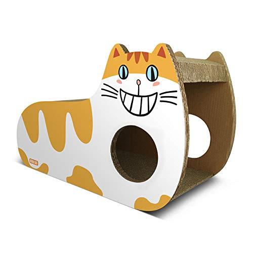 Ygccw Memory Foam Pluche Hond Bedden Hondenmand Bed Dekens Lounger Huisdier benodigdheden Verticaal golfpapier schattig kat nestbord speelgoed geel, 56 * 24.5 * 36.5cm