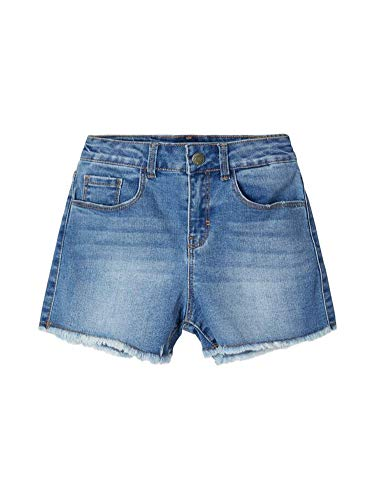 NAME IT Mädchen NKFRANDI MOM DNMCECE 1345 HW NOOS Shorts, Light Blue Denim, 128