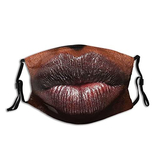 Beso del día de San Valentín besos polvo adulto M-a-s-k cubierta de la cara protección bucal con filtros pasamontañas resistente al viento, reutilizable, lavable, bufanda 1 pieza