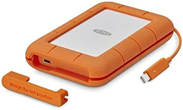 LaCie 4TB Rugged Thunderbolt / USB-C Mobile External Hard Drive, 130MB/s Transfer Rate