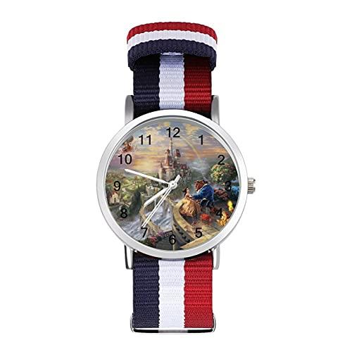 Los relojes Beauty Beast son impermeables, versátiles, informales, para estudiantes, hombres, mujeres, deportes, moda y temperamento simple anime dibujos animados