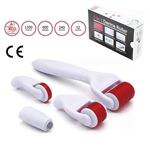 TBPHP Microneedle Derma Roller 5 en 1 Micro Agujas Ideal para mantener su piel joven y radiante,Dermaroller, Roller Facial, Rodillo Facial Micro Agujas, Dermaroller Facial