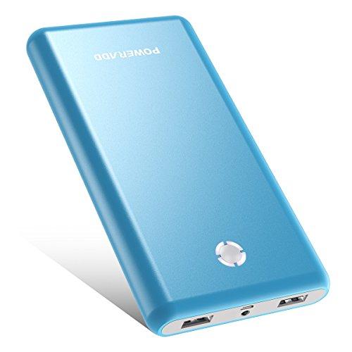 Poweradd Pilot X7 20000mAh モバイルバッテリー 持ち運び充電器 大容量 2USBポートiPhone iPad Gala×y Xperia Ne×us Sony PSvita等対応 2018年新版 ブルー