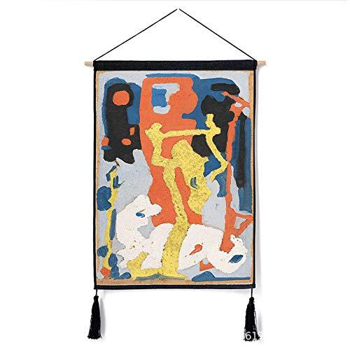mmzki Nordic dekorative Vorhänge abstrakten Hintergrund Malerei Büro Wohnzimmer dekorative Malerei U 46 * 65cm