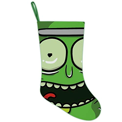 RODONO I'm Pickle Rick Thumb 3D Printing Christmas Stockings Xmas Stocking Gift Sock Ornament for Xmas Tree Family and Fireplace