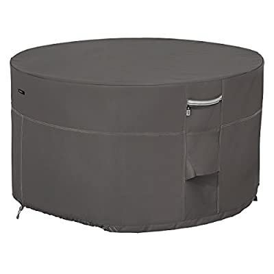 Classic Accessories Ravenna Water-Resistant 42 Inch Round Fire Pit Table Cover