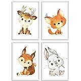 HappyArts | Kinderzimmer Bilder A4 Poster 4er Set Deko