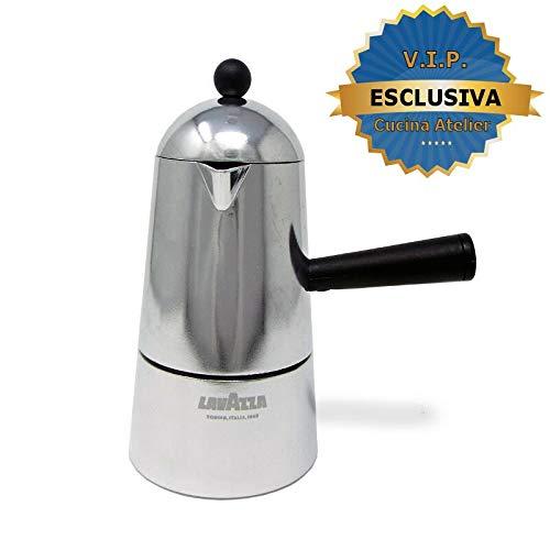 ILSA LAVAZZA Carmencita Caffettiera Alluminio, Moka per Espresso, 1/2/3/6 Tazze (3 Tazze)