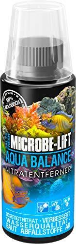 MICROBE-LIFT Aqua Balance - reinigt das Aquarium, reduziert die Anzahl der Wasserwechsel, entfernt Nitrat, Süß- und Meerwasser, 118ml