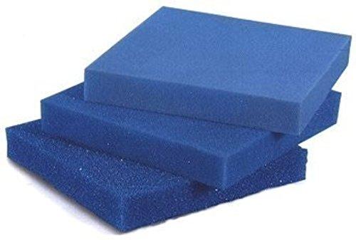 AQUARISTIK-PARADIES Filterschaum Filtermatte - Blau 50 x 50 x 3 cm 'grob' (ppi 10)