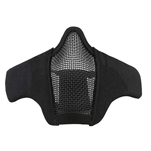 MA-42 Draht Stahl Gesicht Halbmaske Nylon Maske, Nylon Low Carbon Stahl Outdoor Jagdschutz Zaunmaske